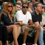 The Carter's Sitting Courtside at the Cavs v. Boston Game