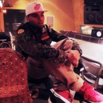 Chris Brown Styling On Them Lames In A $2,795 Burberry Jacket & MCM Backpack