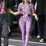 Dope Or Nope?: Nicki Minaj 1980's Pink Box Haircut With The Matching Jumpsuit