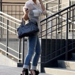 Kim Kardashian Styling On Them Hoes In A Pair Of $1,665 Christian Louboutin Sandals