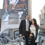 Carmelo Anthony, LaLa Vazquez Anthony & Kiyan Unveils Carmelo's BoostMobile Billboard