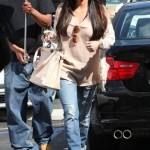Kim Kardashian Styling On Them Hoes In A Pair Of $1,095 Christian Louboutin Shoes & $2,550 Fendi Bag