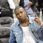 Gucci Mane, Fabolous & Polow Da Don Sitting Courtside At The Hawks Vs. Knicks Game