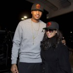 Picture Me Dope: La La And Carmelo Anthony Spotted Wearing Matching NY Knicks Fitted Caps