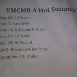 YMCMB A Hot Summer (Tentative Album Release Dates)