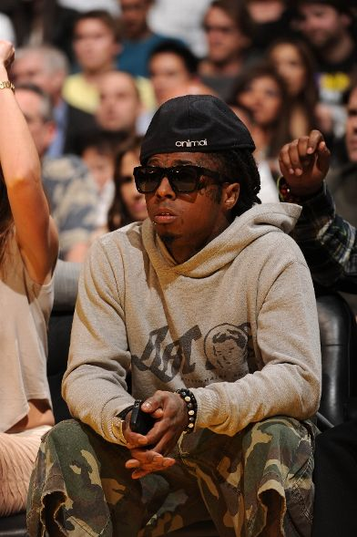 69693aee427b Lil Wayne Styling On Them Lames In A Pair Of  995 Christian ...