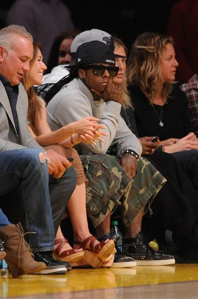 695b2f8f25a8 Lil Wayne Styling On Them Lames In A Pair Of  995 Christian Louboutin  Sneakers
