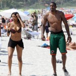 Ciara And Amar'e Stoudemire Heat-Up Miami & Gets Wet On The Beach