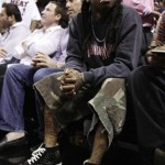 Two Pictures Of Lil Wayne Wearing Christian Louboutin Sneakers