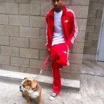Picture Me Dope: A Blonde Headed Tyga Posted On A Street Corner With His Dog