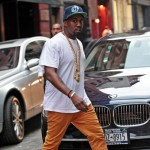 Styling On Them Lames:  Kanye West Wearing A Prada T-Shirt & Balenciaga Sneakers