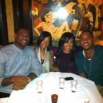 Dining In New York City: La La Vazquez & Carmelo Anthony And LeBron James & Savannah