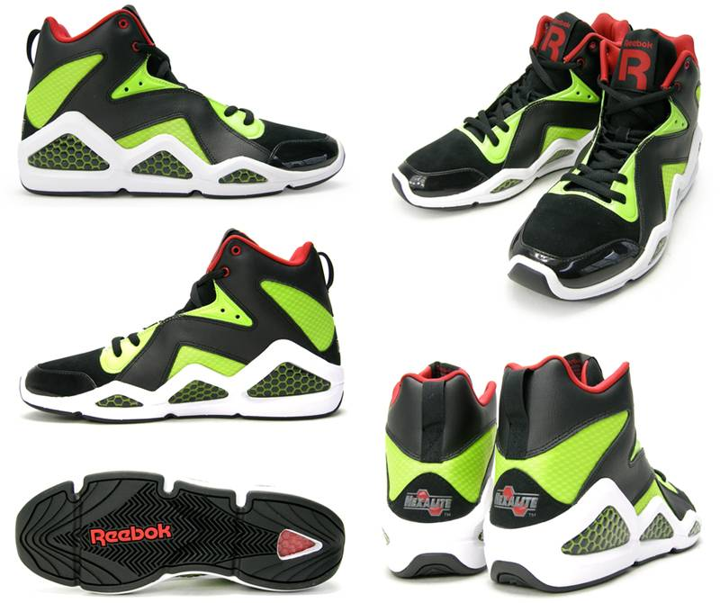 5a476aa0003 Reebok Kamikaze III – Black Sonic Green Excellent Red ...