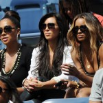 Girls Night Out: La La Vazquez, Kim Kardashian & Ciara At Serena Williams US Open