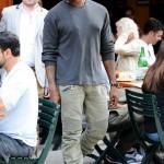 Styling On Them Lames: Kanye West Rocking Balmain Jeans & Air Jordan 7 Sneakers