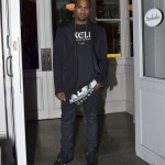 Styling On Them Lames: Kanye West Rocking A $216 Comme Des Garcons Homme Tee-shirt & Nike Yeezy 2 Sneakers