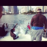 Living The Life: Rick Ross & Meek Mill Chillin On A Yacht In Miami [With Pictures]