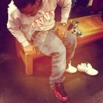 "Sneaker Me Dope: Jim Jones Trying On A Pair Of Nike Air Foamposite One ""Metallic Red"""