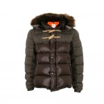 Winter 2012 Style: Moncler 'Anthime' Brown & Grey Down Coat