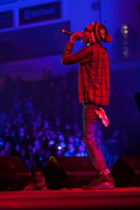 """06d281fb29b1 Sneaker Me Dope  Wiz Khalifa Rocking A Pair Of """"Aqua"""" Air Jordan 8 (OG)"""