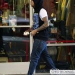 Styling On Them Lames: Chris Brown Rocking A $685 Givenchy Sleeveless Hoodie & Air Jordan 3 Retro Sneakers