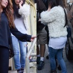 Styling On Them Hoes: Kim Kardashian Wearing $2,310 Azzedine Alaia Suede Boots & Carrying A Chanel Bag