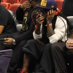 Sitting Courtside: Lil Wayne & Mack Maine At The Miami Heat Vs. Indiana Pacers