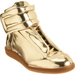 "Spring/Summer 2012 Footwear: Maison Martin Margiela Metallic Gold Leather ""Mirror"" Sneakers"