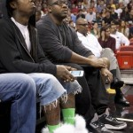 Sitting Courtside: Lil Wayne & Mack Maine At The Charlotte Bobcats vs. Miami Heat Game