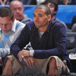 Diamonds & Vans: Chris Brown Sitting Courtside At The NBA All Game