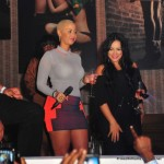 Styling On Them Hoes: Amber Rose In $895 Giuseppe Zanotti Wedges, $325 Alexander Wang Polo & Engineered Tracksuit Miniskirt