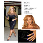 Styling On Them Hoes One-Month After Giving Birth: Beyonce In A Black Dress, Gucci Pumps & Carrying A Chanel Purse