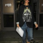 Dope Girl Fresh: Rihanna In A $348 Givenchy Oversize Printed Tee-Shirt & Timberland Boots