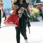 Dope Girl Fresh: Angela Simmons Rocking $680 Maison Martin Margiela Metallic Mirror Sneakers & Carrying A $1,280 Louis Vuitton Bag