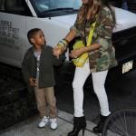 Mommy & Son Having Dessert In NYC: La La Take Kiyan To Get Some Ice Cream