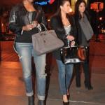 Fly Girls In ATL: Kim Kardashian & Nene Leakes Spotted Carrying Hermes Birkin Bags