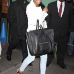 All Glammed-Up: Brandy Wearing Christian Louboutin Sandals & Carrying A Céline Luggage Bag