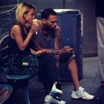 Happy Couple: Chris Brown & Karrueche Trae Shopping And Eating Icecream In Australia