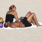 The Carters Hit The Water & Relax In The Sand: Jay-Z & Beyonce Showing Their Beach Bodies