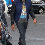 Styling On Them Lames: Kanye West Rocking A $2,189 Givenchy Jacket & Nike Air Yeezy Sneakers