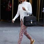 Wearing Spring Colors In Manhattan: Keri Hilson In Cole Haan Lunargrands & Dolce & Gabbana