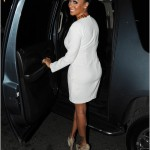 All Glammed-Up: La La Vazquez-Anthony In $1,075 Christian Louboutin Pumps & A White Dress
