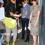 Wearing Neon & Leopard In Manhattan: La La Vazquez In $795 Christian Louboutin Pumps And $780 Alexander Wang Bag