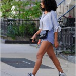 Dope Girl Fresh: Solange Knowles Rocking Jeremy Scott x Adidas Originals Silver Wing Sneakers & Daisy Dukes