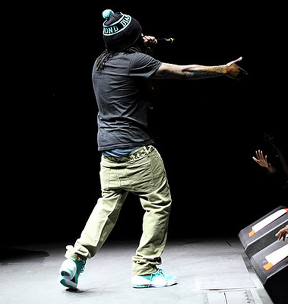 f8150e6d22b36 Sneaker Me Dope  Wale Rocking Nike Air Penny V  Miami Dolphins ...