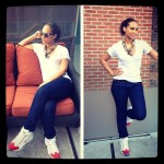 """Dope Girl Fresh: Alicia Keys Posted Up On A Street Corner In Allen Iverson's """"Reebok Question Mid"""""""