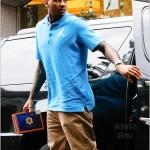 "Breaking Down His Style: Carmelo Anthony Rocking Air Jordan Spizike ""Bordeauxs"", Jordan Brand Polo & Tan Pants"