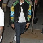 Celebs Style: Chris Brown, Kanye West & Swizz Beatz Wearing A $129 Versace For H&M Bomber Jacket