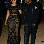 Out And About In Cannes: Kanye West & Kim Kardashian Taking A Late Night Walk