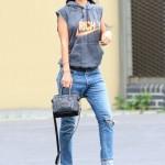 Dope Girl Fresh: Rihanna Wearing A JOYRICH Hoodie, Jeans & Heels